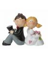 Trouwfiguurtje bruidspaar zittend 8 cm