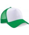 Truckers cap groen wit voor volwassenen