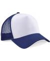Truckers cap navy wit voor volwassenen