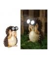 Tuinbeeldje egel met licht 17 cm