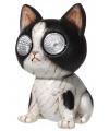 Tuinbeeldje katje met licht 13 cm