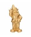 Tuinkabouter goud middelvinger 20 cm
