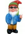 Tuinkabouter hippie 32 cm