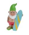 Tuinkabouter met surfplank 28 cm