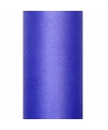 Tule stof blauw 15 cm breed