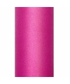 Tule stof fuchsia roze 15 cm breed