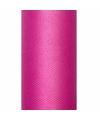Tule stof fuchsia roze 50 cm breed