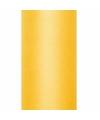 Tule stof geel 15 cm breed