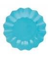 Turquoise diepe bordjes 27 cm
