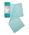 Turquoise organza stof op rol 12 x 300 cm