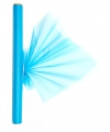 Turquoise organza stof op rol 40 x 200 cm