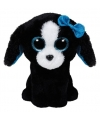 Ty beanie boo s pluche hond knuffel zwart 15 cm