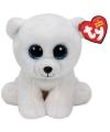 Ty beanie knuffel ijsbeer 15 cm