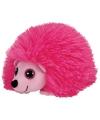 Ty beanie knuffel roze egel 15 cm