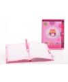Uil dagboek met slot roze