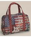 Usa shopping tas rood 32 cm