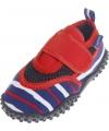 Uv waterschoenen blauw rood gestreept voor kinderen