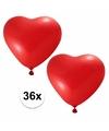 Valentijn 36x hartjes ballonnen rood