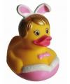 Valentijn badeendje sexy bunny 8 cm