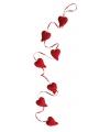 Valentijn glitter hartjes slinger 120 cm