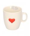 Valentijn koffiekop met hartje