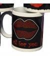 Valentijn mok met grote kus
