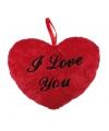 Valentijn pluche i love you kussentje 18 cm