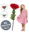 Valentijn roze kunstroos xl 136 cm