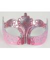 Venetiaans barok oogmasker goud roze