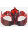 Venetiaans barok oogmasker rood