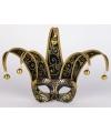 Venetiaans masker zwart met goud