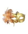 Venetiaans oogmasker metallic goud