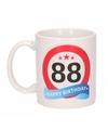 Verjaardag 88 jaar verkeersbord mok beker