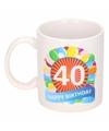 Verjaardag ballonnen mok beker 40 jaar