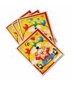Verjaardag uitdeelzakjes clowns thema 8 stuks