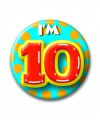 Verjaardags button i am 10