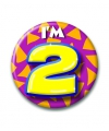 Verjaardags button i am 2
