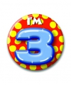 Verjaardags button i am 3