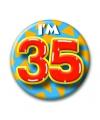 Verjaardags button i am 35