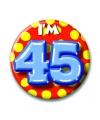 Verjaardags button i am 45