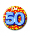 Verjaardags button i am 50