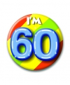 Verjaardags button i am 60
