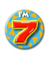 Verjaardags button i am 7