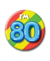 Verjaardags button i am 80