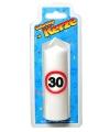Verjaardagskaars 30 jaar verkeersbord