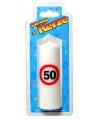 Verjaardagskaars 50 jaar verkeersbord