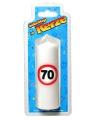Verjaardagskaars 70 jaar verkeersbord