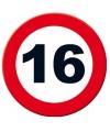 Verkeersbord 16 jaar poster 49 cm