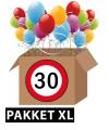 Verkeersbord 30 jaar feestartikelen pakket xl