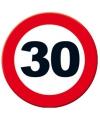 Verkeersbord 30 jaar poster 49 cm